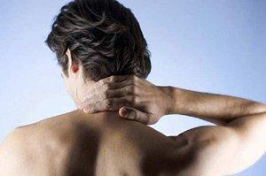 Боль  в области шеи