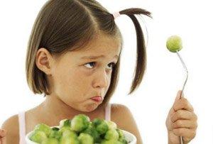 Дети едят овощи только за вознаграждение