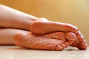 Лечебный массаж пятки